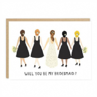 Jade Fisher Will You Be My Bridesmaid? Card